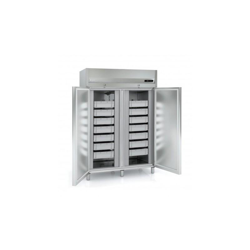 CORECO - Armoire réfrigérée à casiers 1330 L, 2 portes pleines