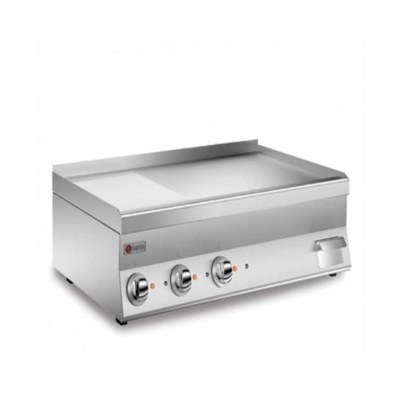 BARON - Grillade électrique, Gamme 650 - plaque 2/3 lisse de 55 dm²