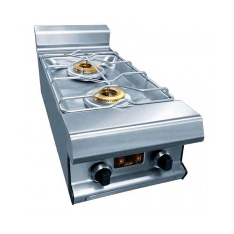 CAPIC - Table à gaz 2 feux nus avec Ecoflam , 400 mm, sur étuve - Celtic