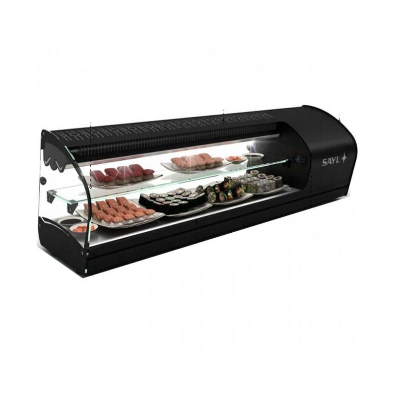 SAYL - Vitrine réfrigérée à sushi Shark 2 étages, cuve plate