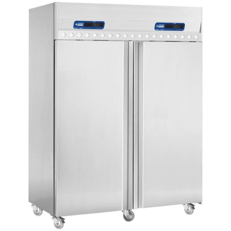 DIAMOND - Armoire froide et de congélation 2x700 L, 2 portes GN 2/1