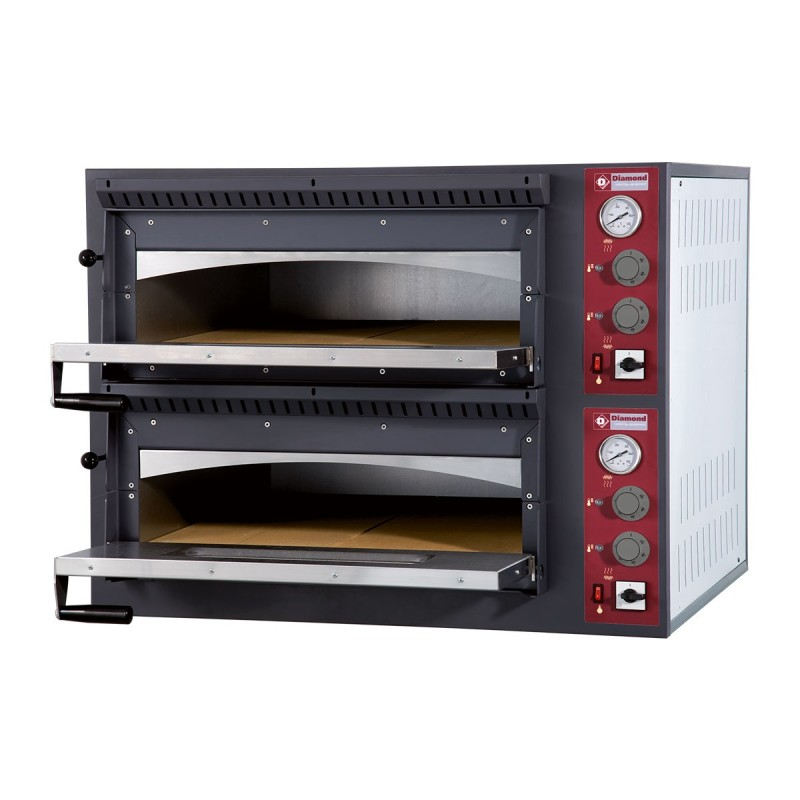 Four électrique à pizza Ø 350 mm, 2 chambres