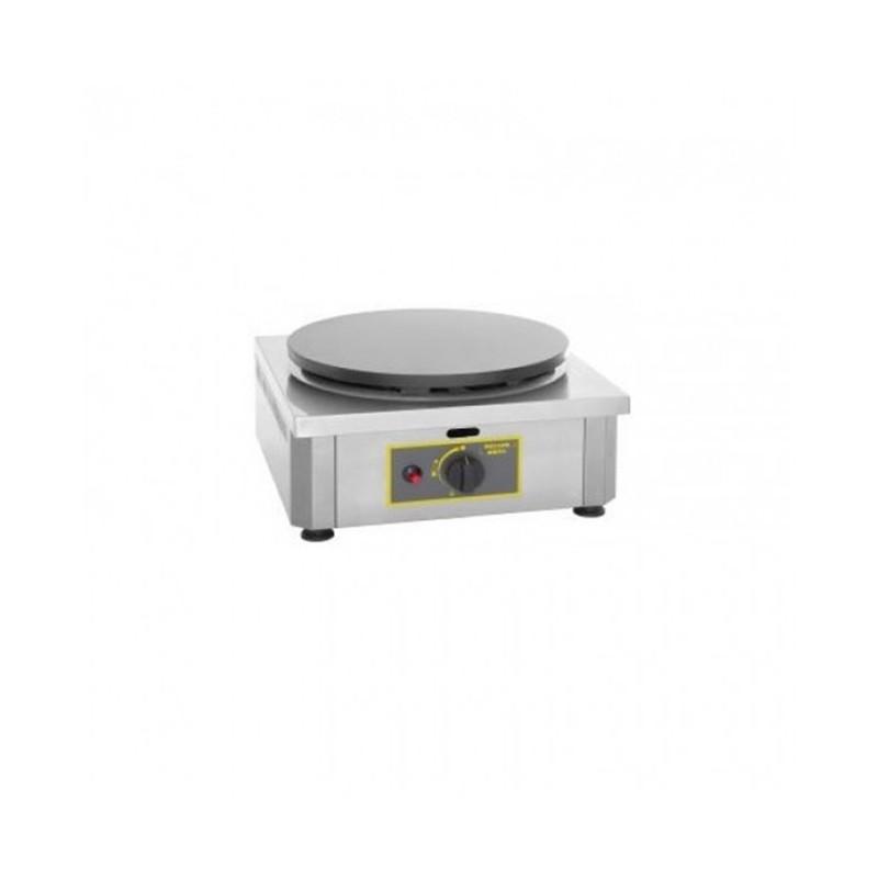 ROLLER GRILL - Crêpière simple gaz, plaque en fonte émaillée Ø 400 mm