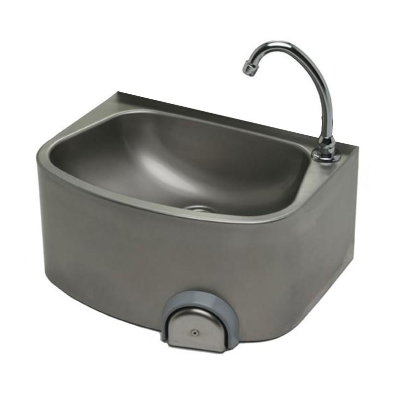Lave-mains très hygiénique avec cuve semi circulaire