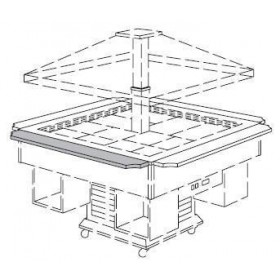 MEP - Tablette pour buffet à hors d'oeuvre GAZEBO 1395mm