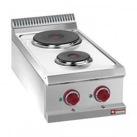 DIAMOND - Cuisinière électrique professionnelle 2 plaques rondes