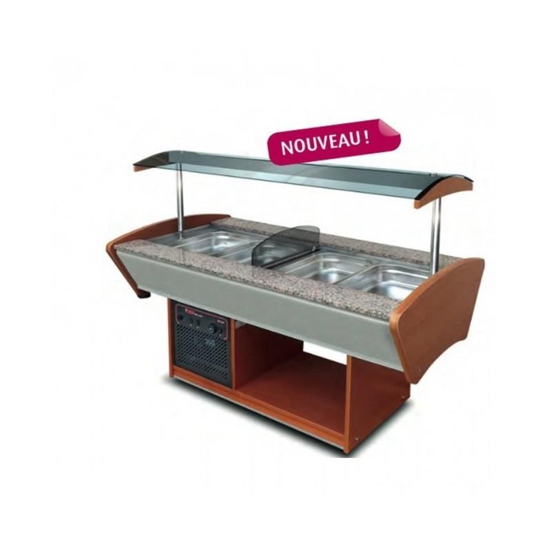 CHR-AVENUE - Buffet mixte central : chaud / réfrigéré, capacité GN 1/1