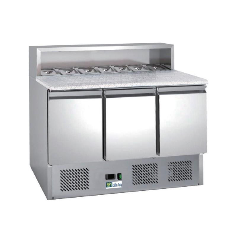Table réfrigérée à Pizzas 3 portes, capacité 8 GN 1/6 AAPS903 - CHR-AVENUE