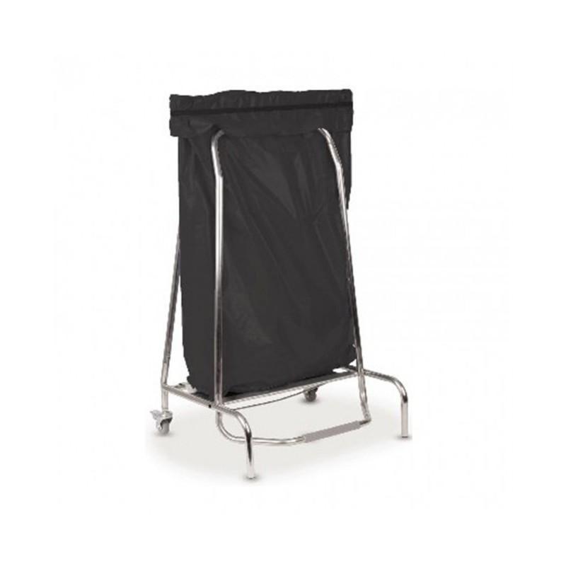 CASSELIN - Porte sac poubelle inox, 110 L