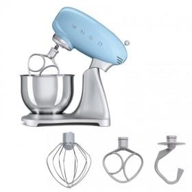 SMEG - Robot sur socle avec bol inox de 4,8 L - Bleu Azur