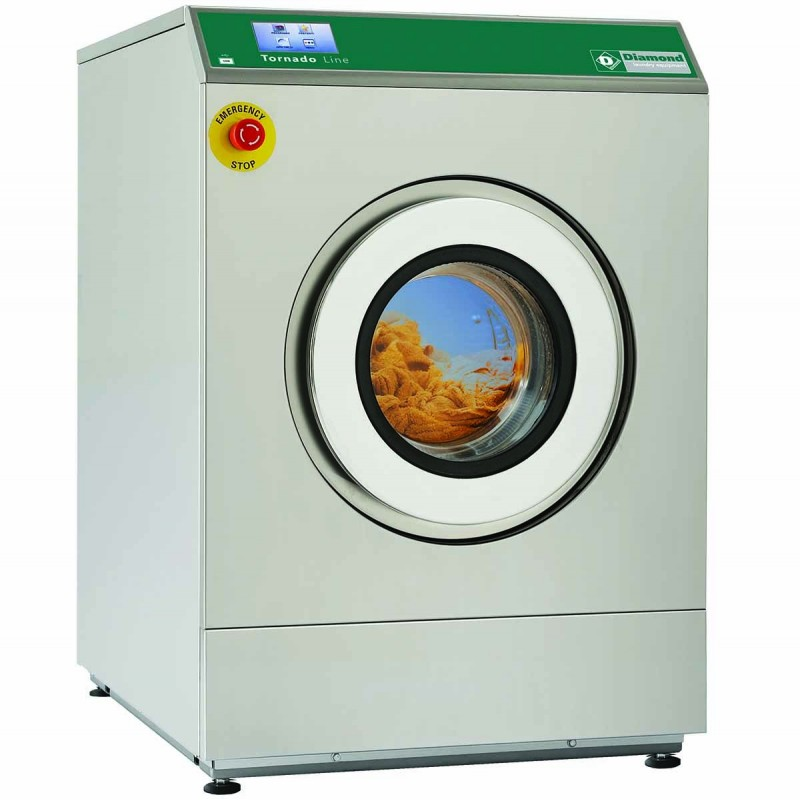 DIAMOND - Lave-linge professionnel à super essorage 14kg inox