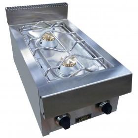 CAPIC - Table de cuisson professionnelle 2 feux vifs à poser gamme Aven 700