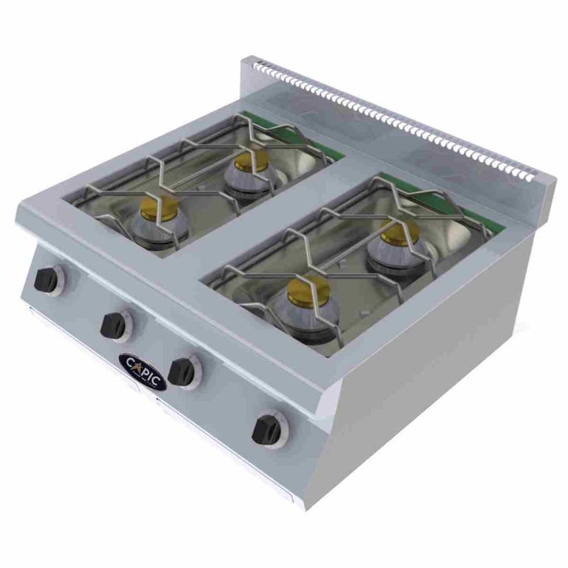 CAPIC - Table de cuisson à gaz, 4 feux nus à poser - Aven
