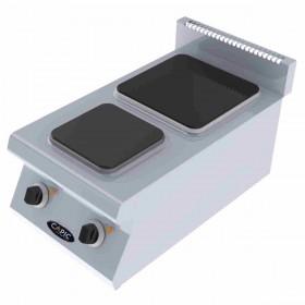 CAPIC - Plaque électrique 2 foyers en fonte, 400 mm, à poser - AVEN