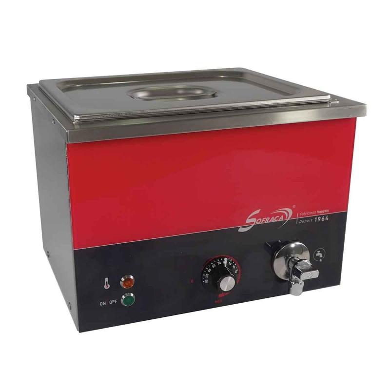 SOFRACA - Bain-Marie Piccolo - Inox - Capacité 9 Litres - 1 bac GN 1/2 P 150 mm