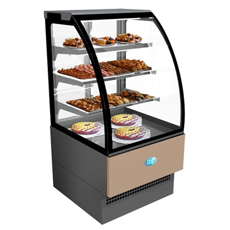 DAP - Vitrine pâtisserie 4 niveaux, service arrière