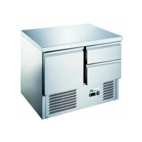CHR-AVENUE - Saladette réfrigérée avec 2 tiroirs GN 1/1 + 1 porte