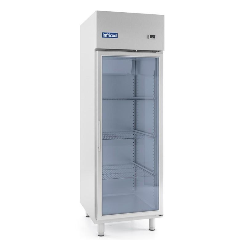 INFRICOOL - Armoire réfrigérée 1 porte vitrée GN 2/1 - 310 L