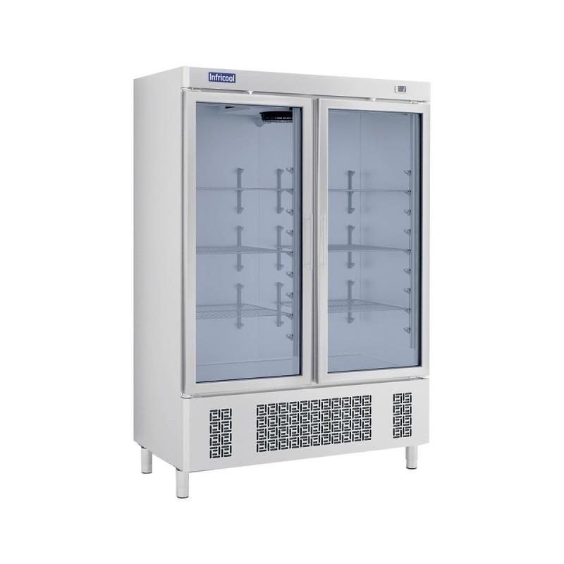 INFRICOOL - Armoire réfrigérée 2 portes vitrées - 1100 L