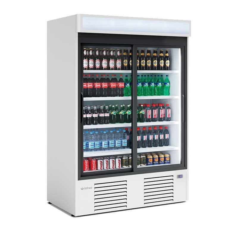 INFRICO - Armoire d'exposition réfrigérée, 2 portes coulissantes