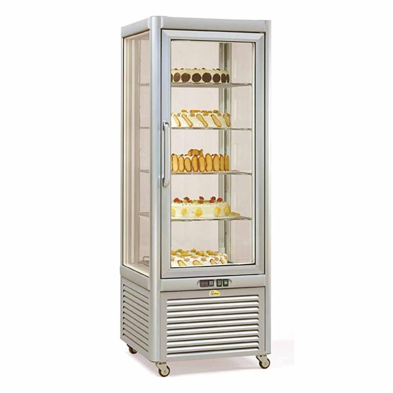 TECFRIGO - Vitrine réfrigérée - 4 faces vitrées - 400 L - NÉGATIVE STATIQUE
