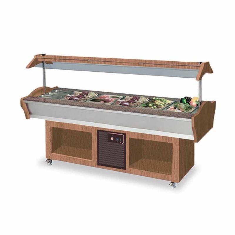 Salade bar réfrigéré, capacité 6 x GN 1/1