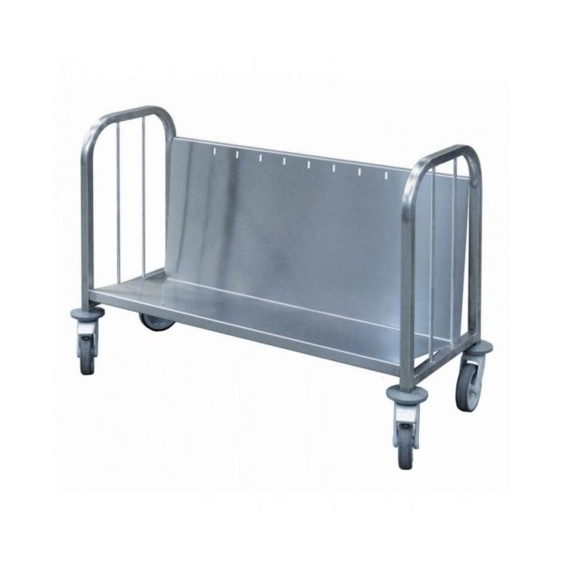 L2G - Chariot inox - 200 assiettes