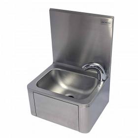 L2G - Lave-mains inox adossé avec robinet électronique