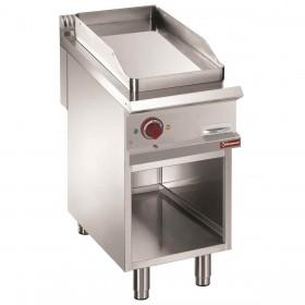 DIAMOND - Plaque de cuisson électrique lisse acier ou chromée , armoire ouverte