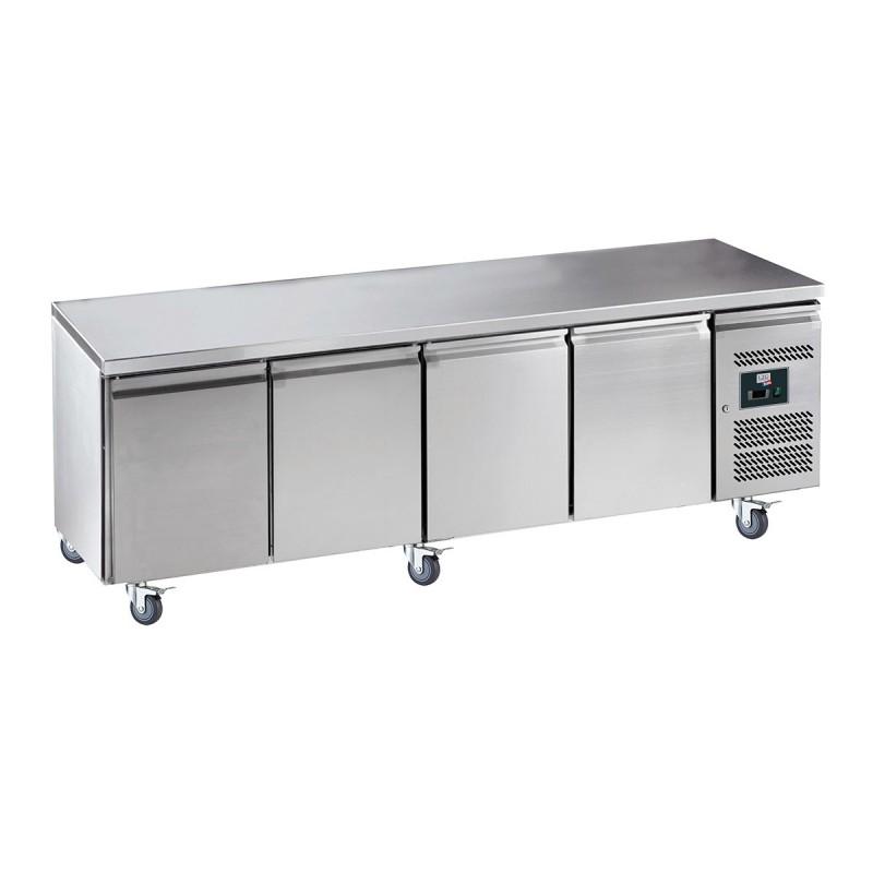 L2G - Table réfrigérée centrale 4 portes GN 1/1, prof. 700 GN4100TN