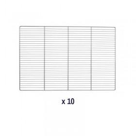 AIR'T - Kit de 10 grilles fil GN 2/1