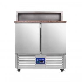 CUISTANCE - Saladette réfrigérée avec plan de travail granit et compartiment GN