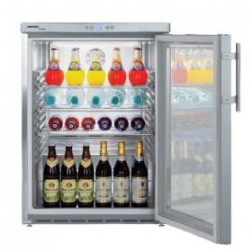 LIEBHERR - Armoire frigorifique de stockage inox, 141 L, porte vitrée - FKUV1663