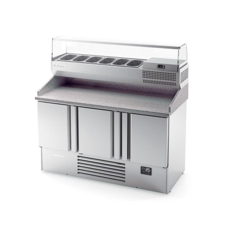 INFRICO - Table réfrigérée GN 1/1 préparation pizza - 3 portes VIP