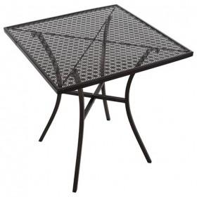 BOLERO - Table de bistro carrée en acier ajouré Ø700 mm - GG706