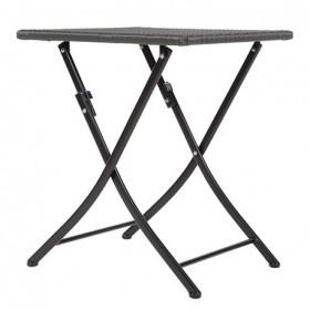 BOLERO - Table carrée pliante en rotin PE - GL302