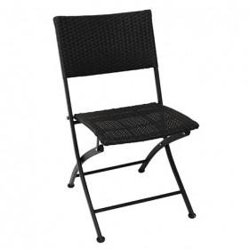 BOLERO - Chaises pliantes en rotin PE (lot de 2) - GL303