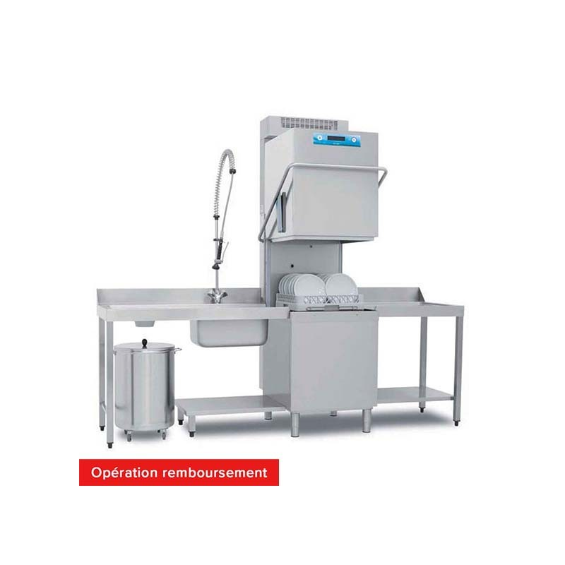 ELETTROBAR - Lave-vaisselle à capot RIVER - Panier 500 x 500 mm