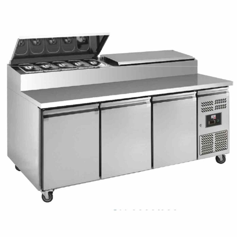 L2G - Table réfrigérée à sandwiches 3 portes, 8 GN 1/3