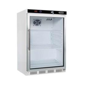 Armoire réfrigérée blanche, 1 porte vitrée - 200 L