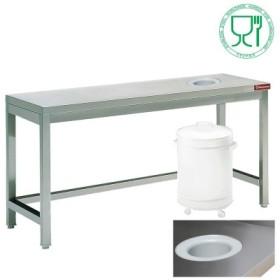 Table inox de débarassage, centrale