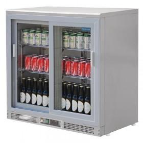Arrière-bar gris, capacité 180 bouteilles