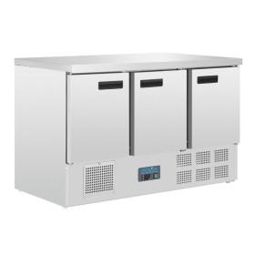 POLAR - Table réfrigérée positive 3 portes - dessus marbre - G622
