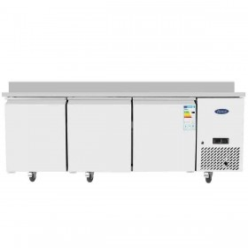 Table froide centrale 3 portes pleines 400 x 600 mm - EPF3485GR-S