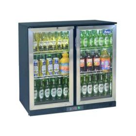 Arrière bar réfrigéré en inox 2 portes battantes, BDS-210