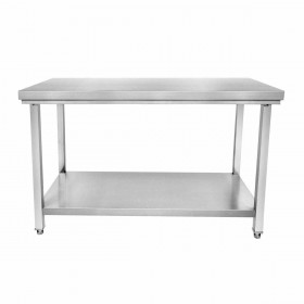 CUISTANCE - Table inox centrale P. 600 mm L. 1500 mm
