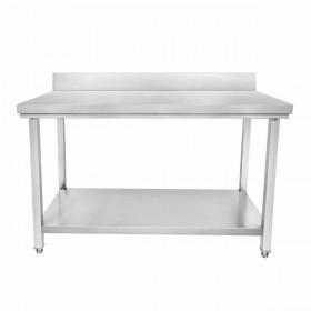 CUISTANCE - Table inox adossée P.600 mm L. 600 mm