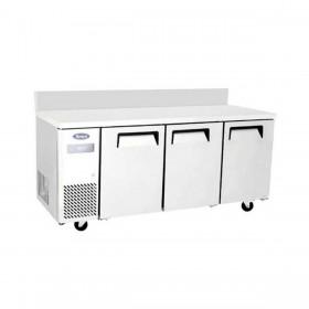 ATOSA - Table froide négative compacte 3 portes avec dosseret