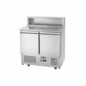 ATOSA - Meuble à pizzas compact 2 portes et 5 bacs GN 1/6