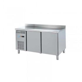 DAP - Table réfrigérée adossée 2 portes P. 700 mm groupe à gauche
